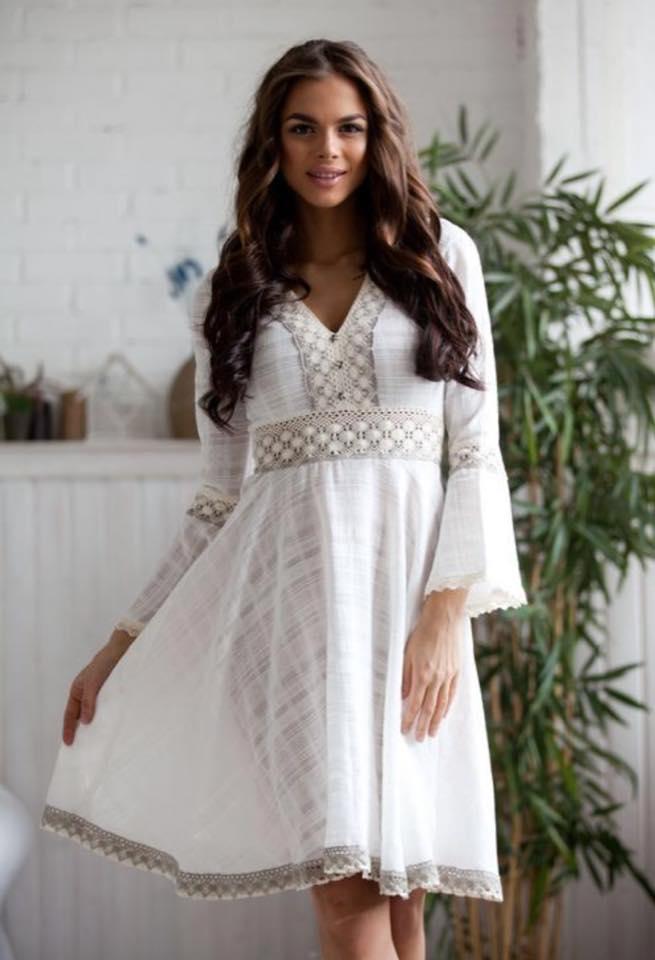 Купить Платье Белое Из Хлопка